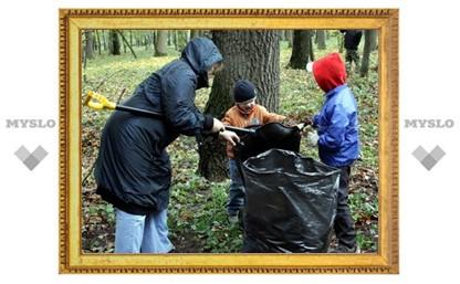 Туляки на субботнике собрали 8 тонн листвы