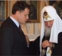 Патриарх Кирилл вручил Владимиру Груздеву орден Преподобного Сергия Радонежского 2-й степени