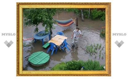 В Туле затопило поселок Октябрьский