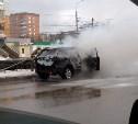 На улице Ложевой сгорел автомобиль