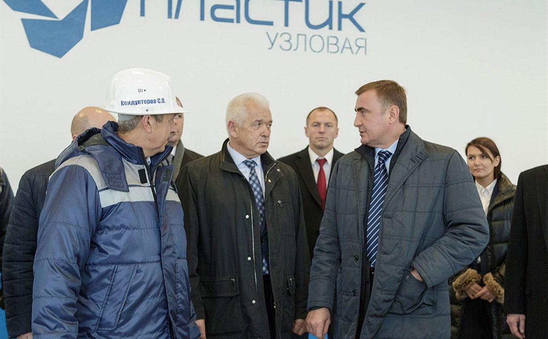 В Узловском районе Алексей Дюмин посетил  ОАО «Пластик»