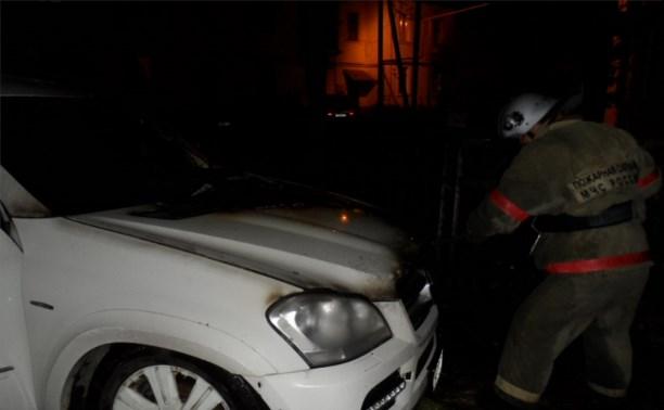 В Суворове ночью сгорел «Мерседес»