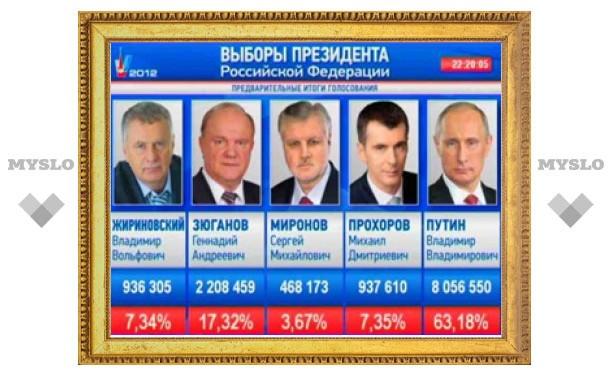 Владимир Путин продолжает лидировать на выборах Президента РФ