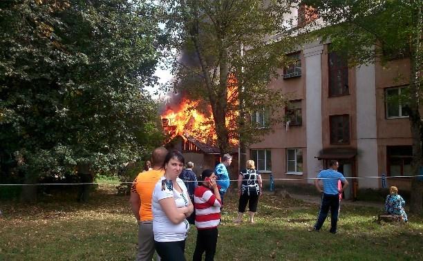 В Туле на улице Максима Горького сгорела голубятня