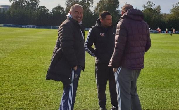 Главный тренер сборной России посетил матч «Арсенал» – «Астана»