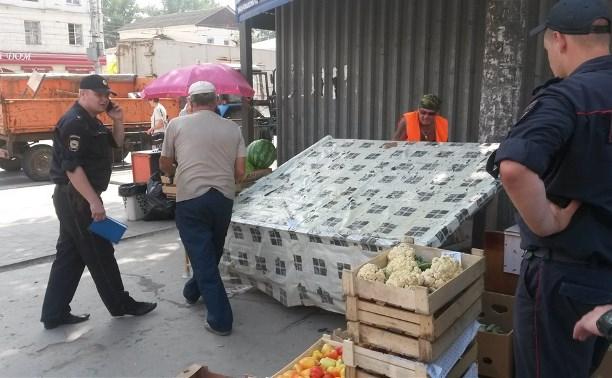 В Заречье ликвидировали четыре незаконных торговых развала