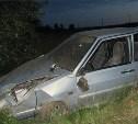 Ночью в Заокском районе легковушка слетела в кювет