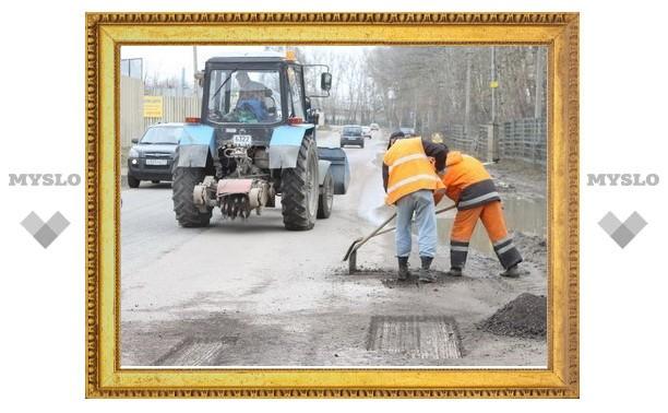 Не все подрядчики вышли ремонтировать тульские дороги
