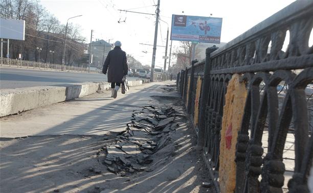 В Привокзальном районе Тулы земля уходит из-под ног
