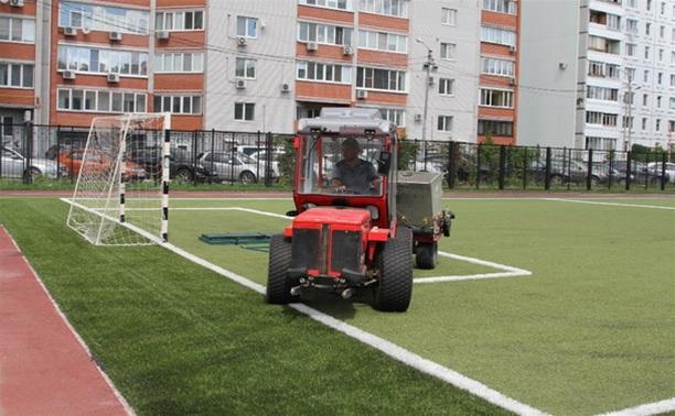 На спортплощадках некоторых тульских школ установят современное покрытие