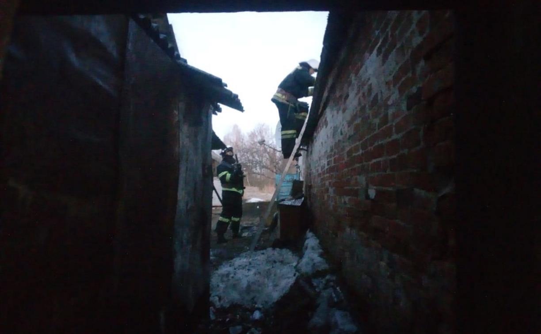 На пожаре в Белевском районе погиб мужчина