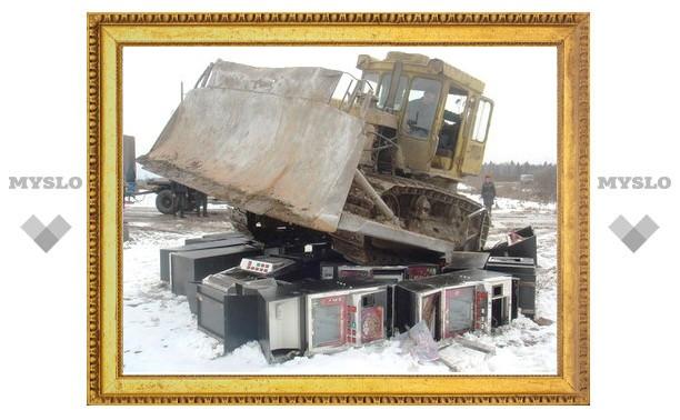Тульский спецназ пустил игровые автоматы в утиль