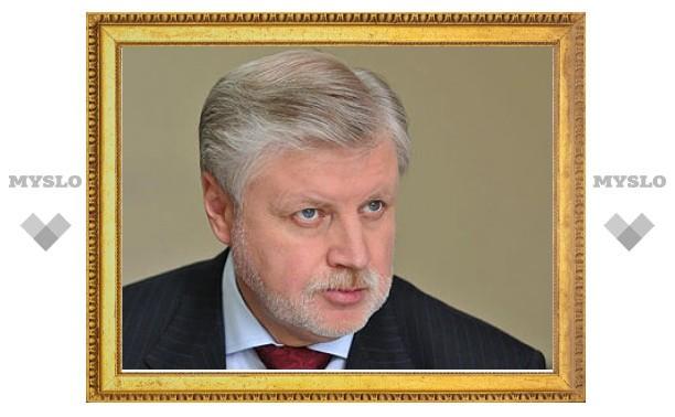 """Миронов вступился за сенатора Елисеева перед """"Единой Россией"""""""