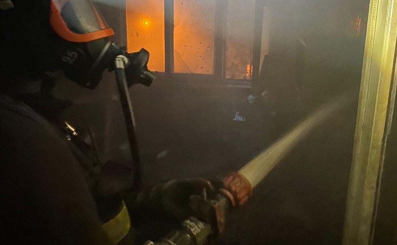 На пожаре в Новомосковске пострадал мужчина, одного человека удалось спасти
