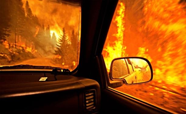 Во дворе дома в Новомосковске сгорел автомобиль