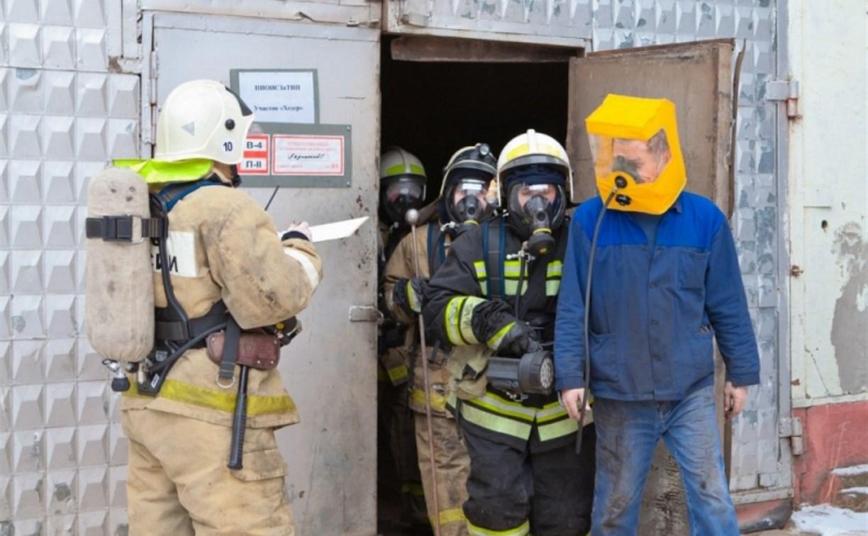 В Алексине пожарные ликвидировали условное возгорание на заводе