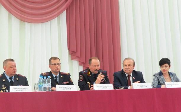 В Туле обсудили вопросы безопасности на выпускных вечерах