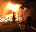 Серьезный пожар: в Алексине сгорел ресторан «Веранда»