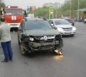 На улице Рязанской в Туле Renault Duster столкнулся с мотоциклом