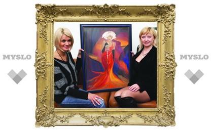 Тулячка подарила портрет Ирине Круг