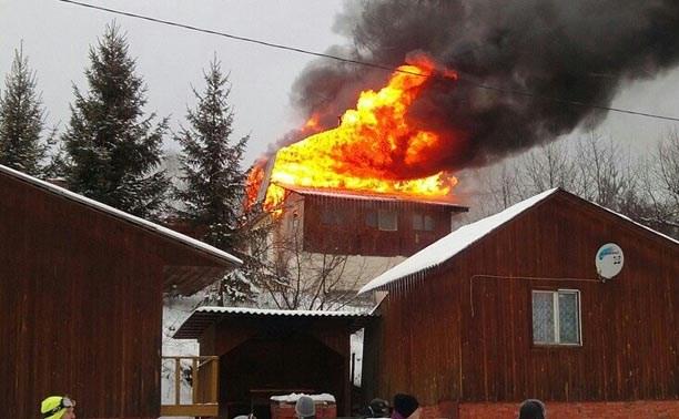 В Форино загорелся дом