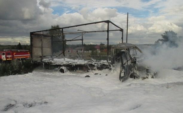 На трассе «Дон» сгорела «Газель»