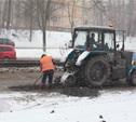 В Привокзальном районе снегопад не помешал ремонту дорог