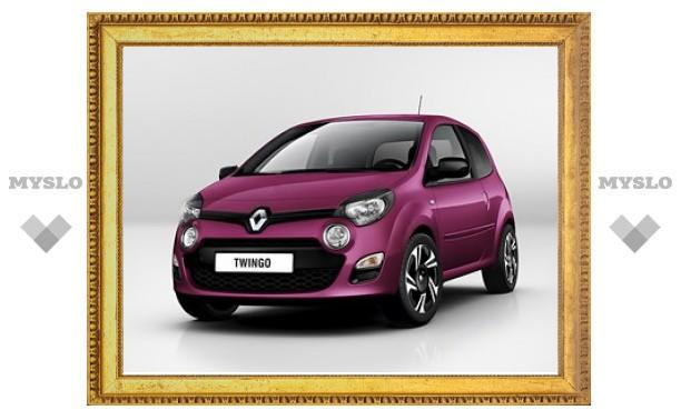 Марка Renault рассекретила внешность обновленного Twingo