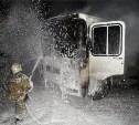 На Павшинском мосту ночью сгорел ПАЗик с рязанскими номерами