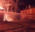 В Кимовске сгорел нежилой дом