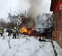 Пожар на улице Оружейной в Туле: фото с места событий