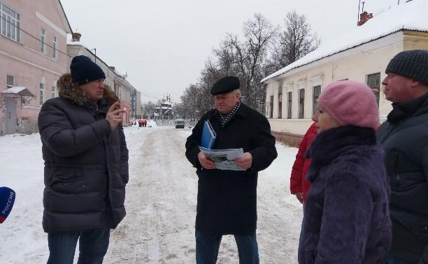Евгений Авилов рассказал тульским блогерам о благоустройстве набережной