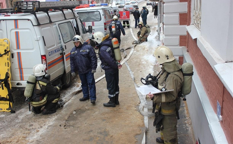 Пожарные ликвидировали условное возгорание в здании тульской ЕДДС