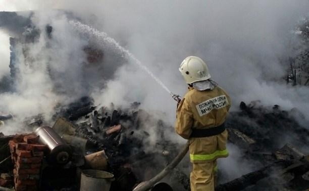 На пожаре в Ясногорском районе погибла пенсионерка