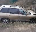Женщина-водитель «Хёндэ Санта фе» улетела в кювет под Алексином