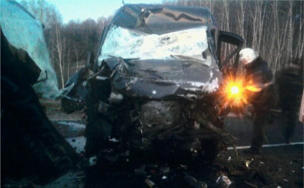 Рано утром на М2 лоб в лоб столкнулись два микроавтобуса