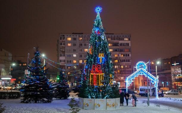 В новогоднюю ночь в Туле чуть подморозит