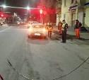 На ул. 9 Мая в Туле упавший провод контактной линии повредил две машины