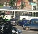 На проспекте Ленина столкнулись три авто и троллейбус