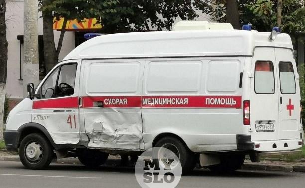 Скорая с пациентом попала в ДТП на пр. Ленина в Туле