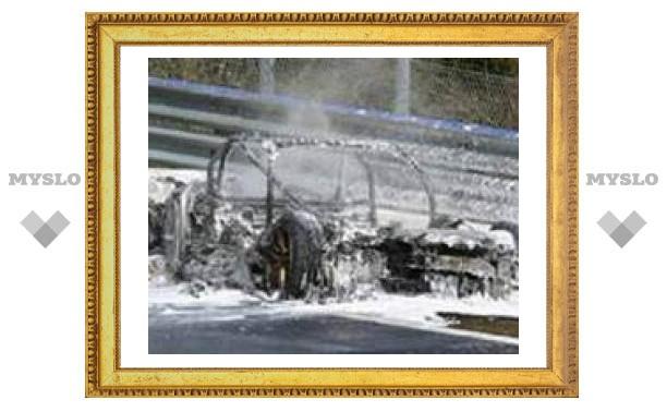 Во время тестов сгорела Audi RS8