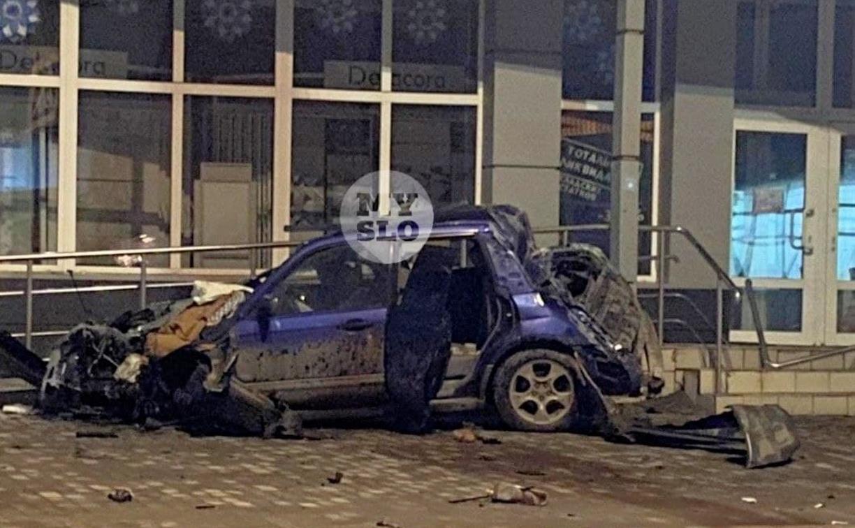 Туляки обнаружили разбитую машину в центре города