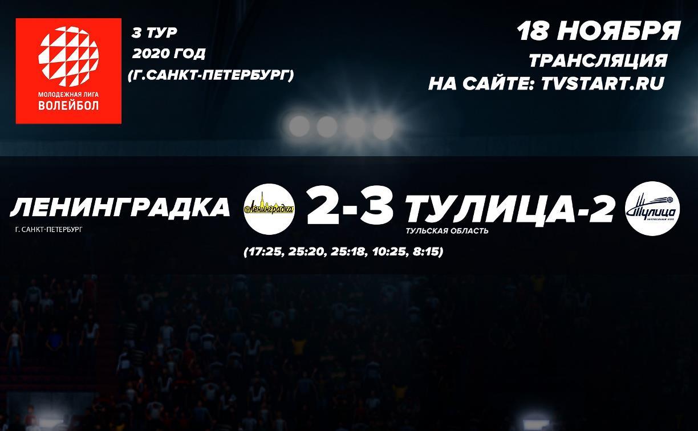 Молодежка «Тулицы» одержала победу в матче с «Ленинградкой»