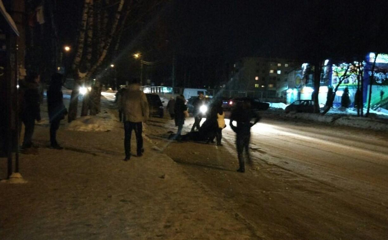 В Щекино иномарка сбила человека