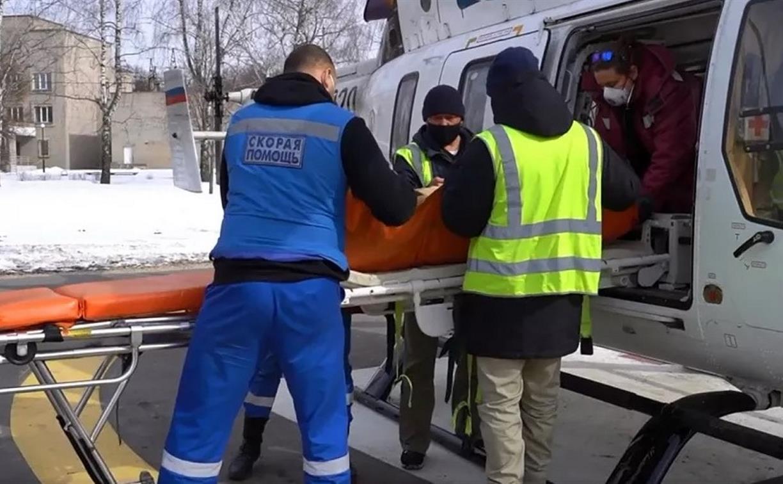 Тульская бригада санавиации доставила в больницу 69-летнего алексинца