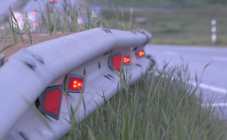 На дороге в Новомосковске установили инновационные световые индикаторы