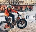 Туляки на велопараде в Москве при -28: чтобы согреться, пили чай из тульского самовара!