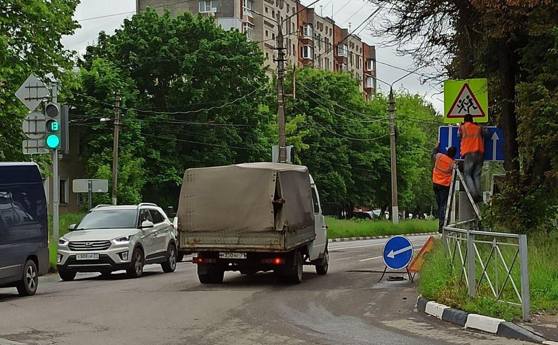 В Туле на ул. Станиславского движение стало трехполосным