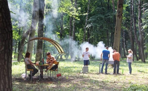 В Новомосковске обустроены зоны отдыха в Городском парке
