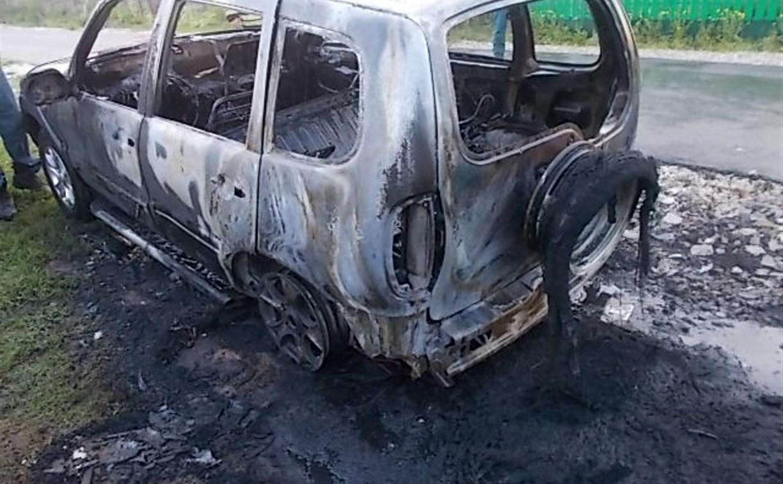 В Заокском районе рано утром сгорела «Нива-Шевроле»